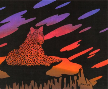 Leopard Sunset