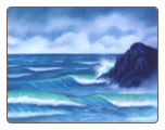 Blue Oregon Sea - Print